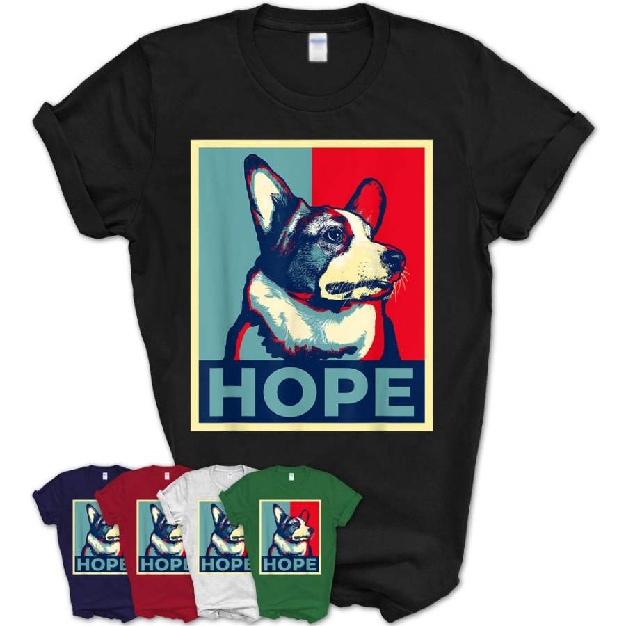 Funny Corgi Meme Election 2020 Obama Hope Campaign Poster T-Shirt