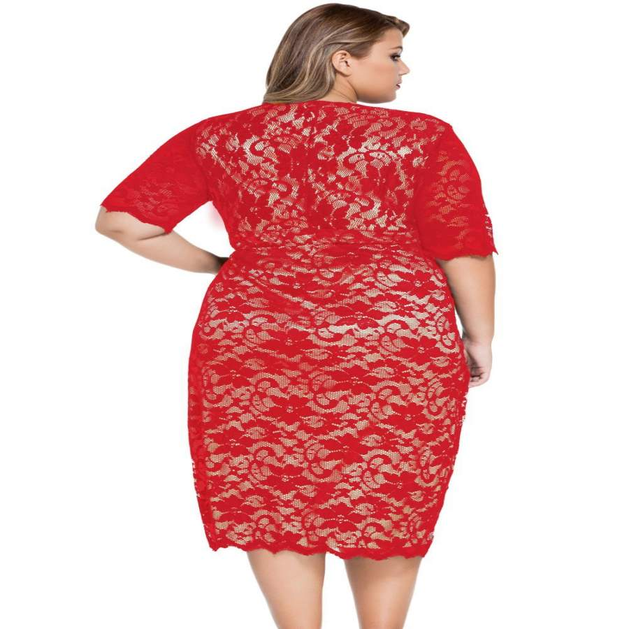 Plus Size Cocktail Dresses Cyber Monday 50% OFF Sale!Red