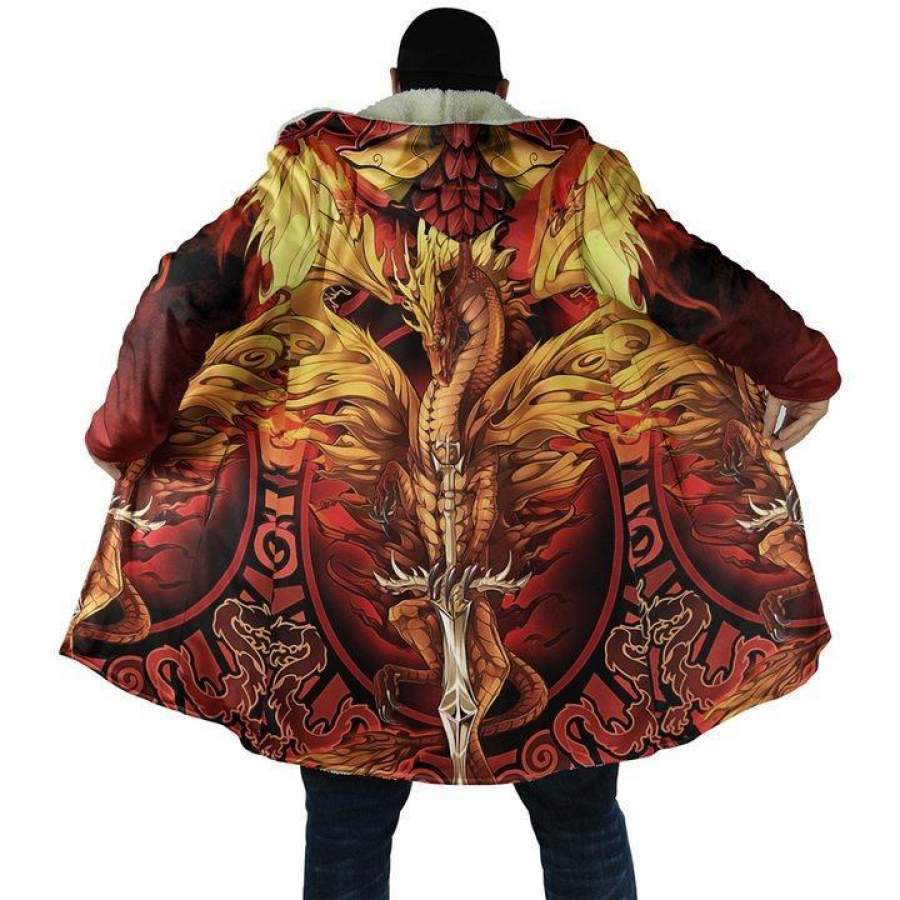 3D Tattoo and Dungeon Dragon Hoodie Coat for Men and Woman NM050922