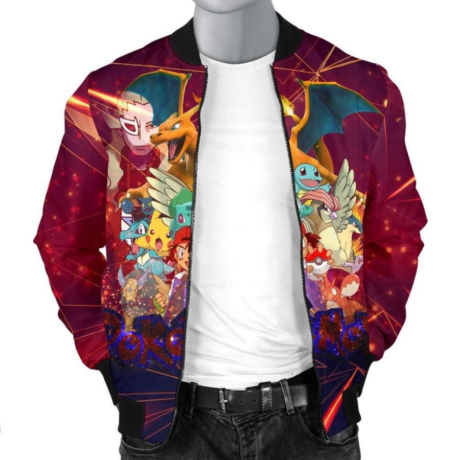 Ash Movie Poster Pokemon Custom Bomber Jacket