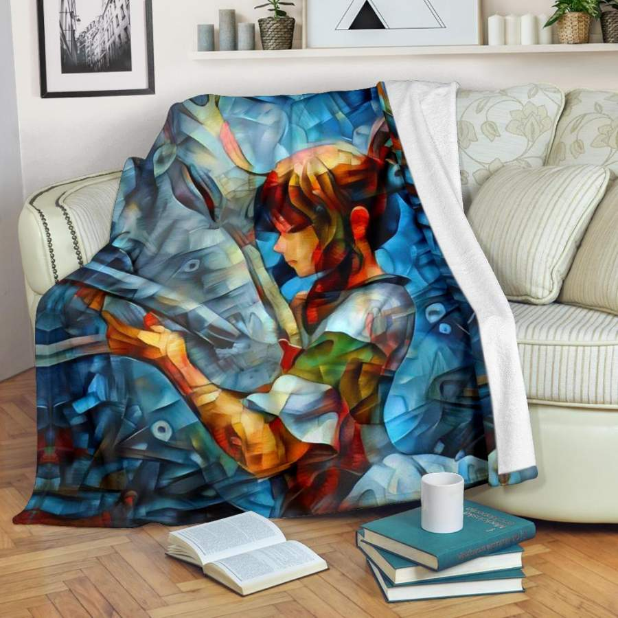 Abstract spirited away Blanket