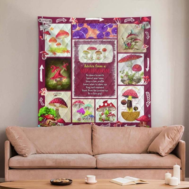Mushroom Quilt Blanket 1358