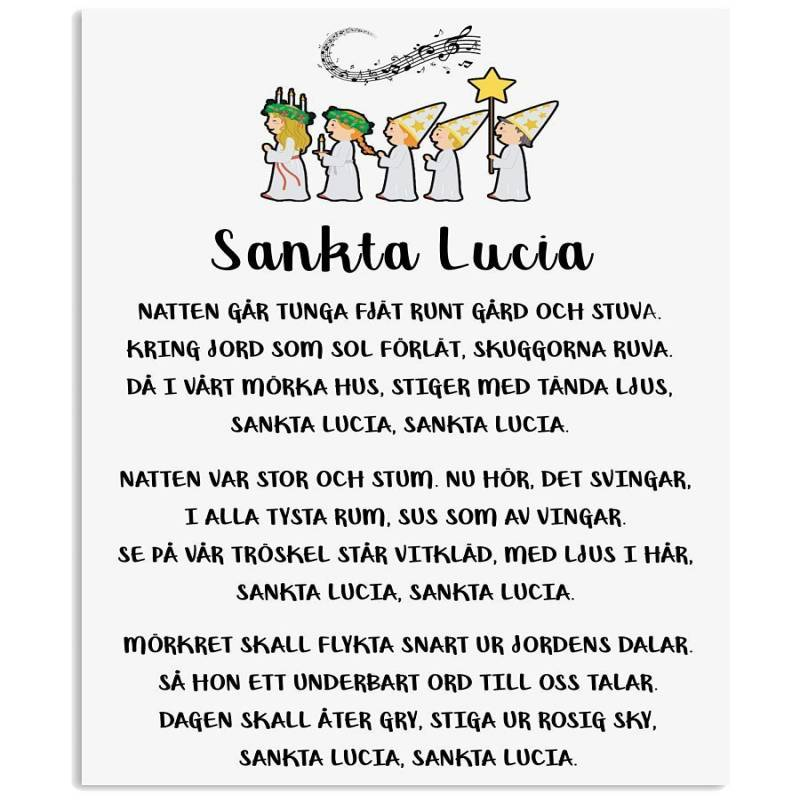 Sankta Lucia Swedish Song Christmas Gift Quote T-shirt Vertical Poster