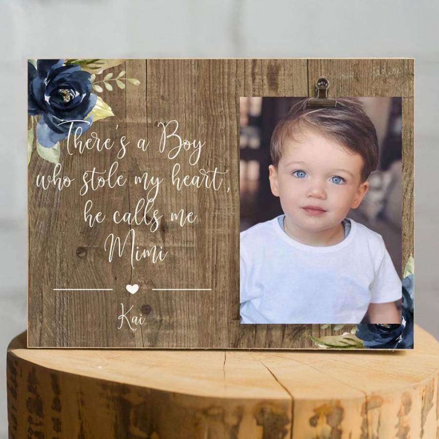 A Boy Who Stole My Heart Poster Canvas - Gift For Grandmother Gsge