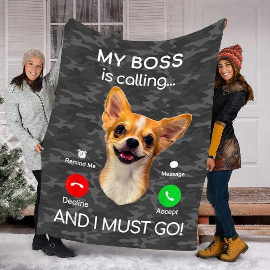 Customs Blanket Chihuahua Dog Puppy Dog Blanket – Fleece Blanket