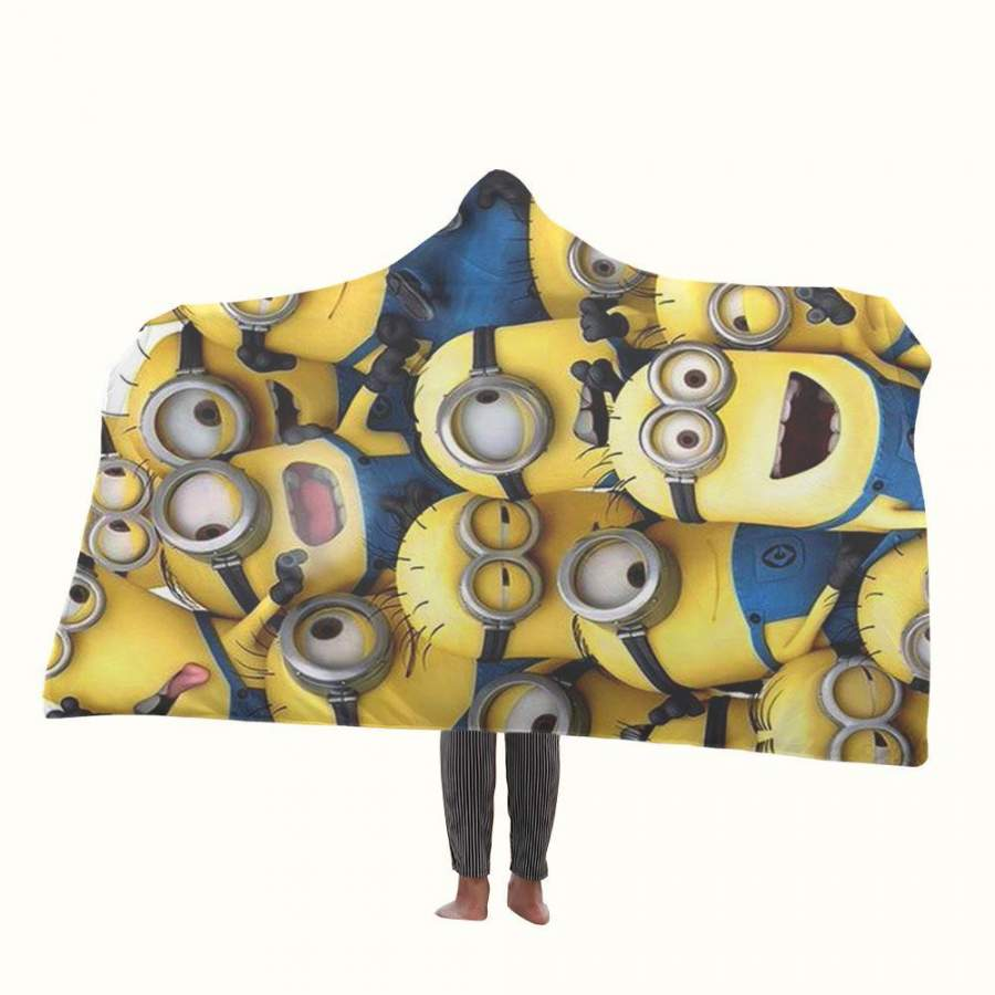 All Minion Hooded Blanket