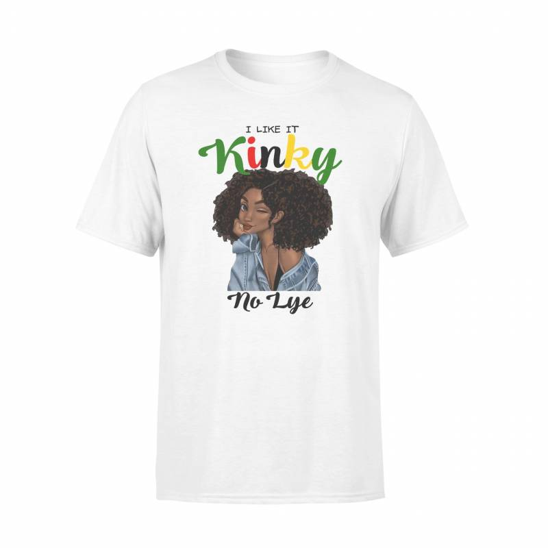 AfroKinky Hair I Like It Kinky No Lye - Standard T-shirt