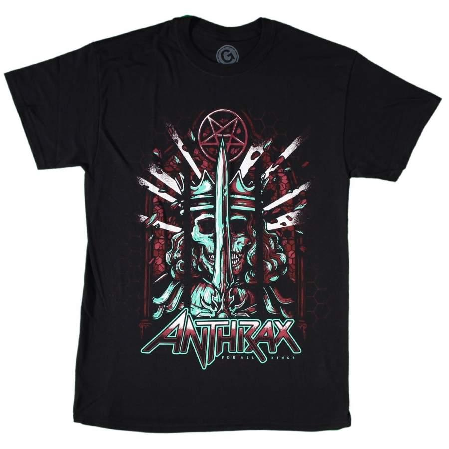 Anthrax Men's for All Kings Poster T-shirt Men's Fitness T-shirt