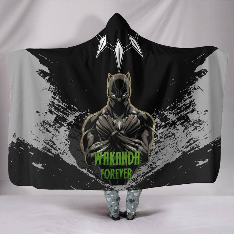 Wakanda Forever Special Hooded Blanket A7