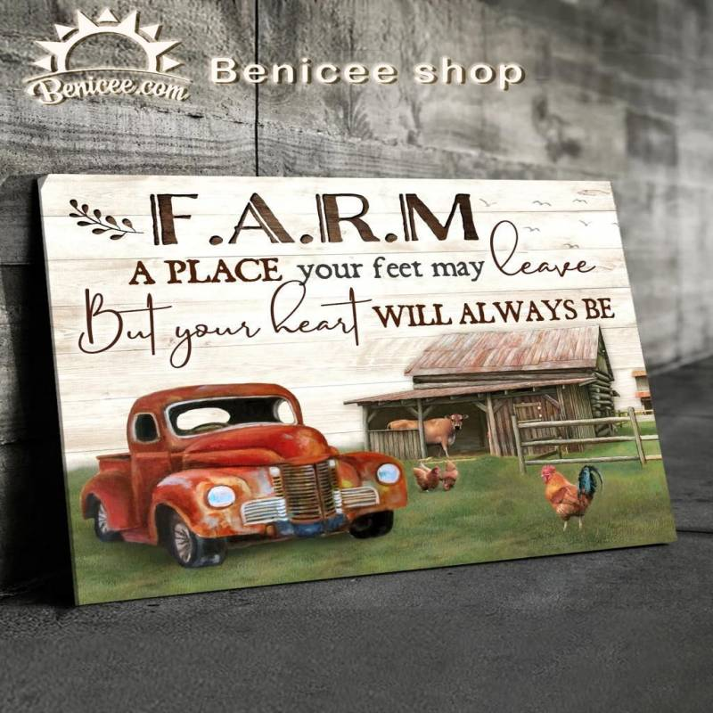 Farm a place your feet Poster Canvas 4232203048