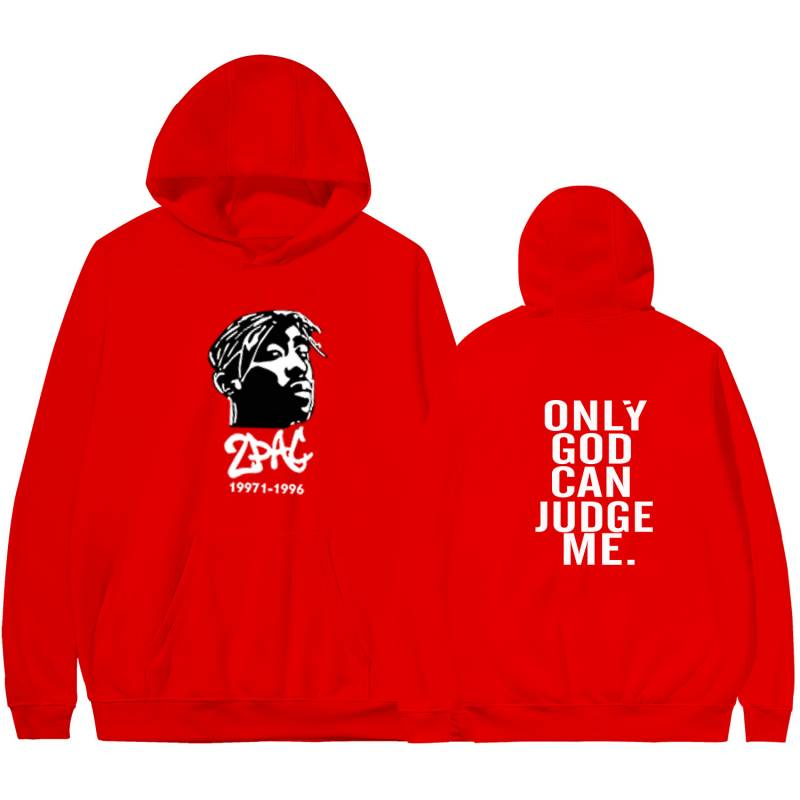 2PAC Hoodie Only God Can Judge Me Printed Sweatshirt