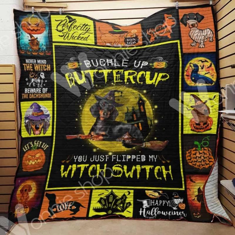 Dachshund Witch Blanket AU0902 90O39