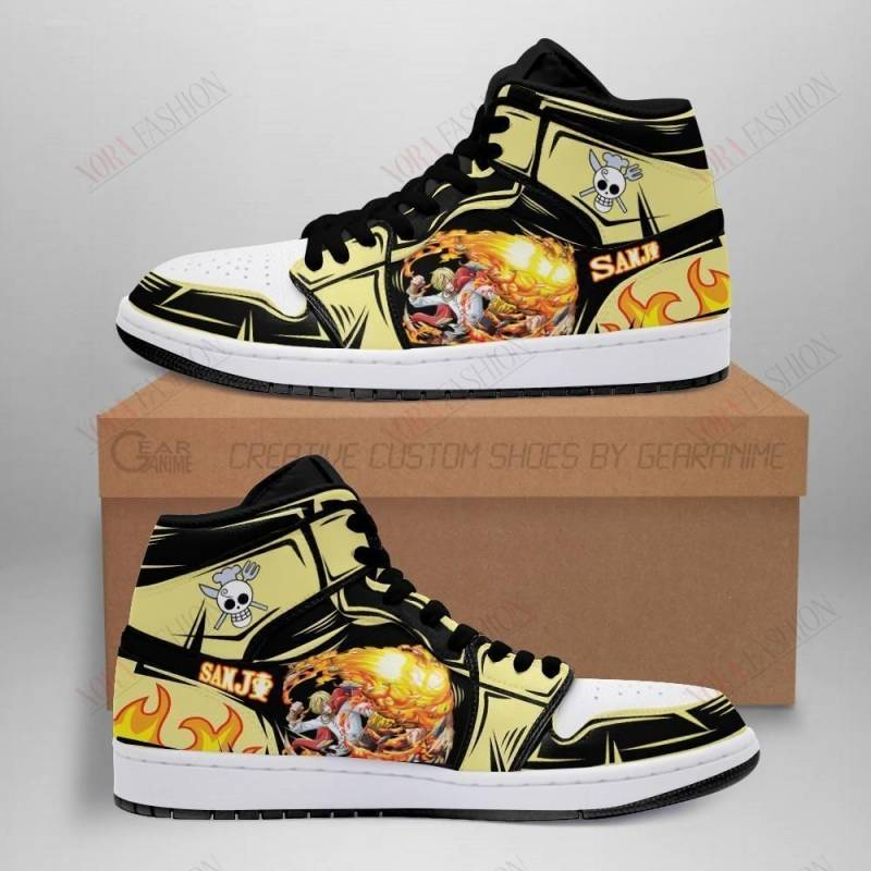 Sanji Shoes Boots Straw Hat Pirates One Piece Sneakers Anime Fan Gift MN06