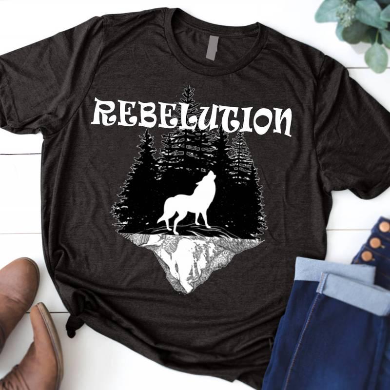 Nature Rebelution T-Shirt, Wolf t-shirt