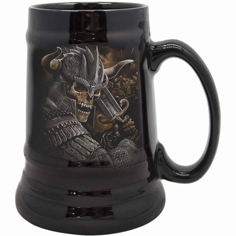 VIKING WARRIOR - Steins - Ceramic Beer Mug - Gift Boxed
