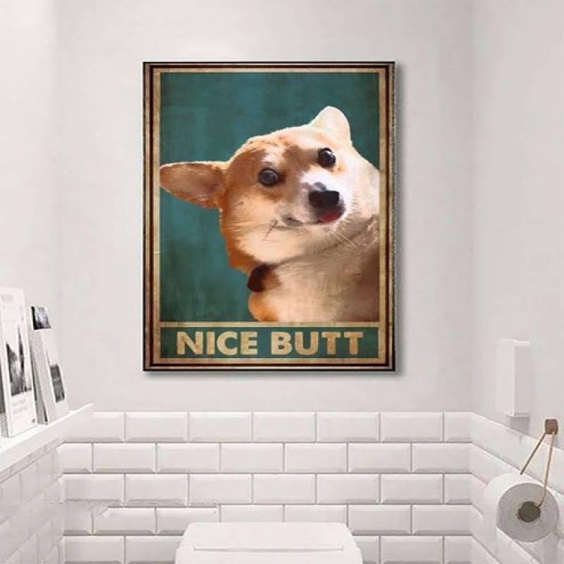 Dog Nice Corgi - Unframed Vertical Poster