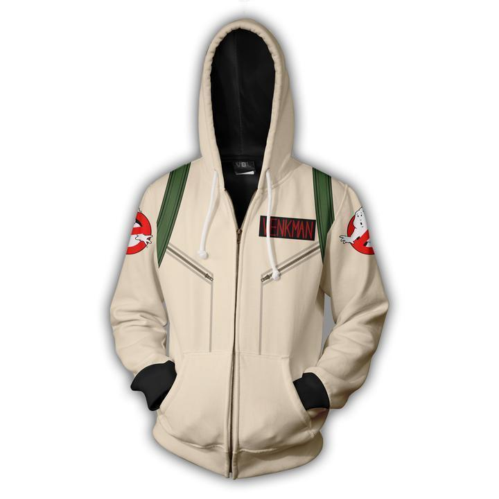 2019 Ghostbusters Cosplay Zip Up Hoodie Unisex Hoodie Sweatershirt