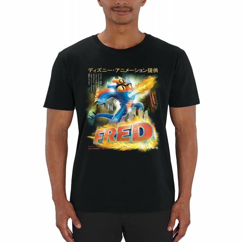 Disney's Big Hero 6 Fred Manga Poster Men's T-Shirt