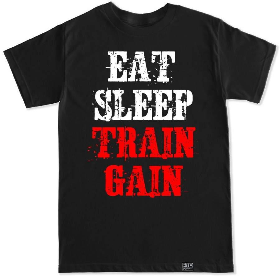 Men's EAT SLEEP TRAIN GAIN T Shirt