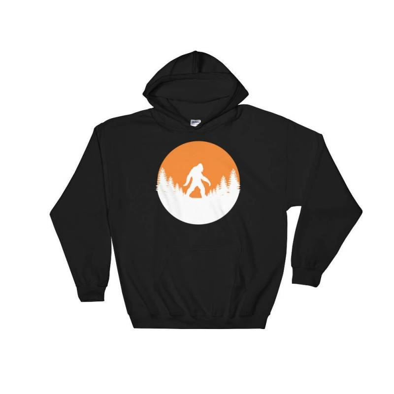 Bigfoot Forest Retro Hooded Sweatshirt| Hoodie Gift | Retro Vintage Hipster Travel Mens Womens Sweatshirt