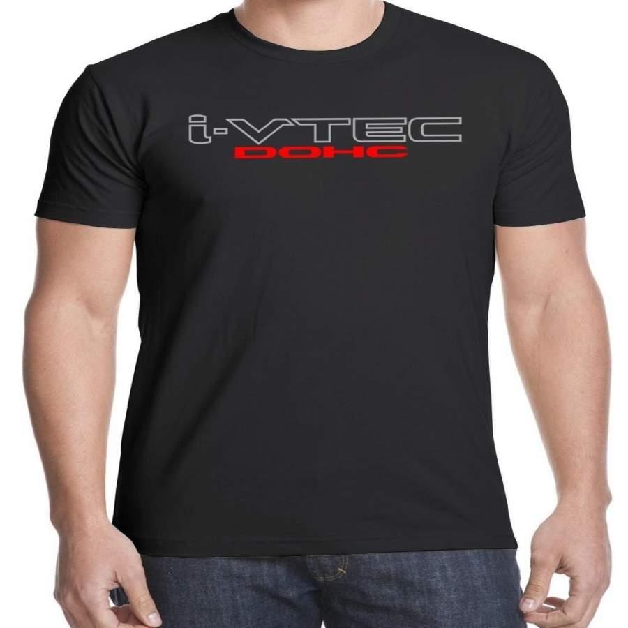 Civic Sick Si I-vtec Dohc Mugen Power Racing Accord T-shirt Casual Tops Men O Neck T Shirt Adult Tee Shirt