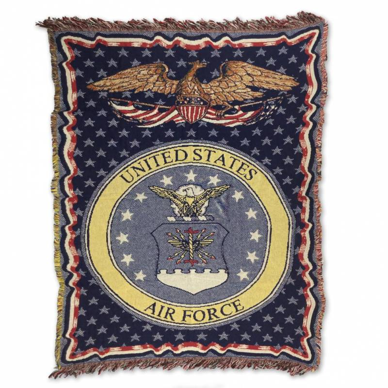 """AIR FORCE KNIT BLANKET (50"""" X 70"""")"""