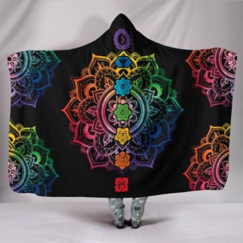 Chakra Mandala Hoodie Blanket