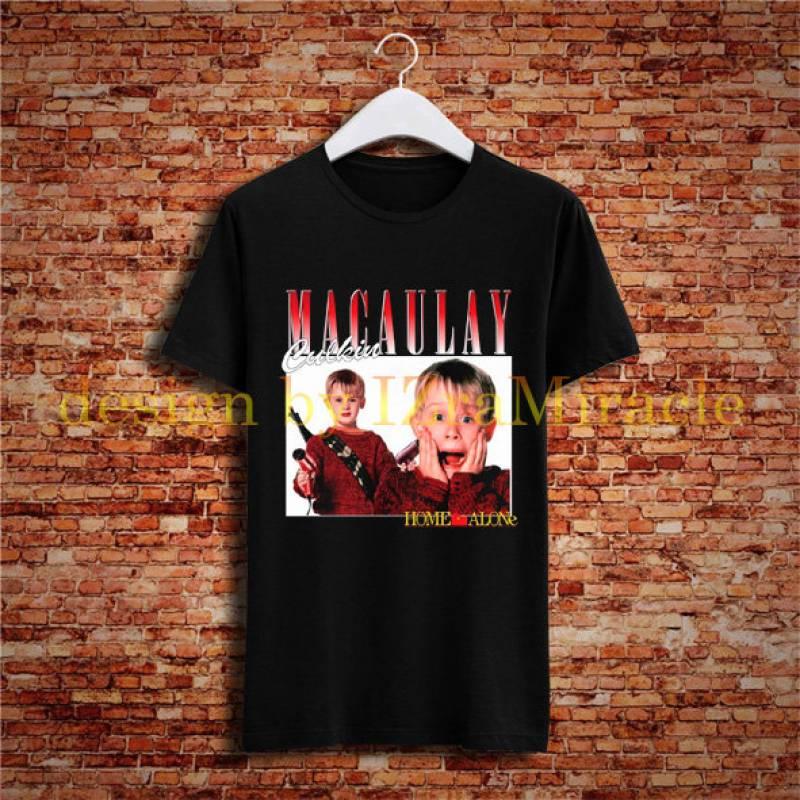 Macaulay Culkins  Hip Hop Rapper 90s Retro Vintage T Shirt New Casual Black Men Women T-Shirt IM-82