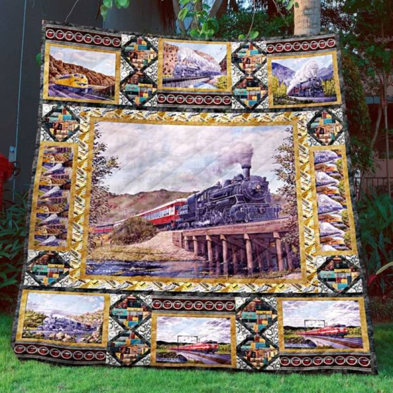 Limited Edition Train Tml190703 Quilt Blanket