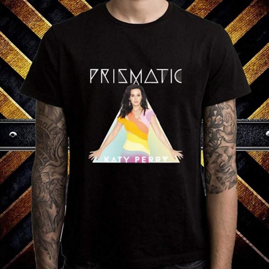 New Katy Perry Prismatic World Tour Logo Men's T-Shirt ...