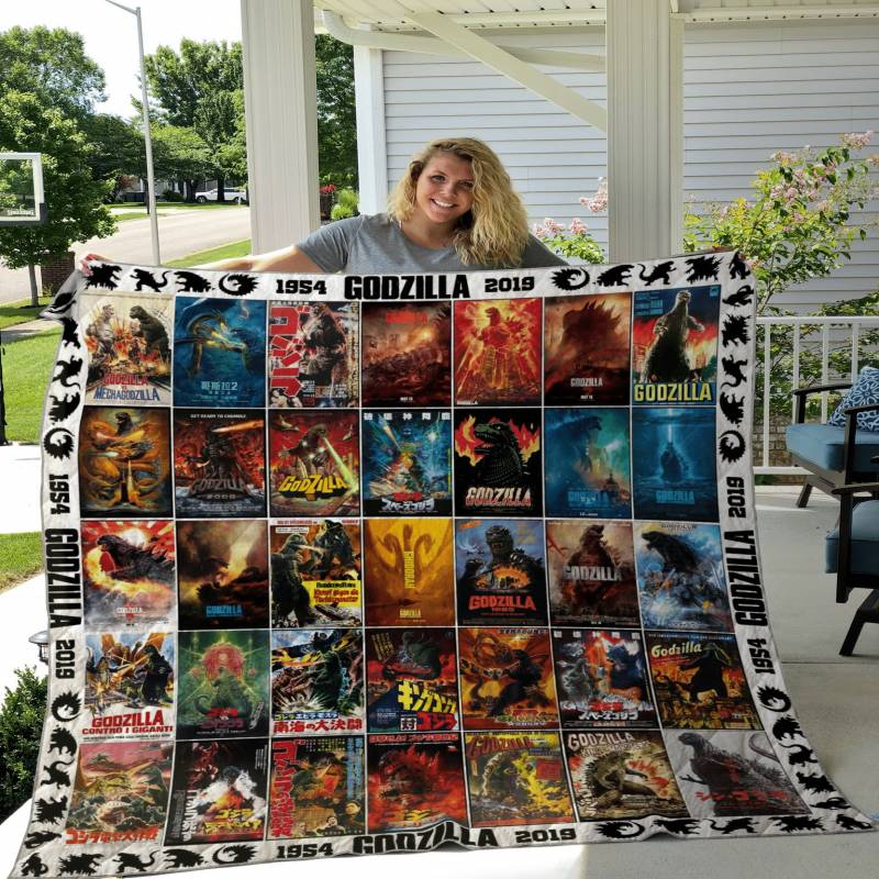 Godzilla 65 Years Poster Cover Quilt DHC19112061DD
