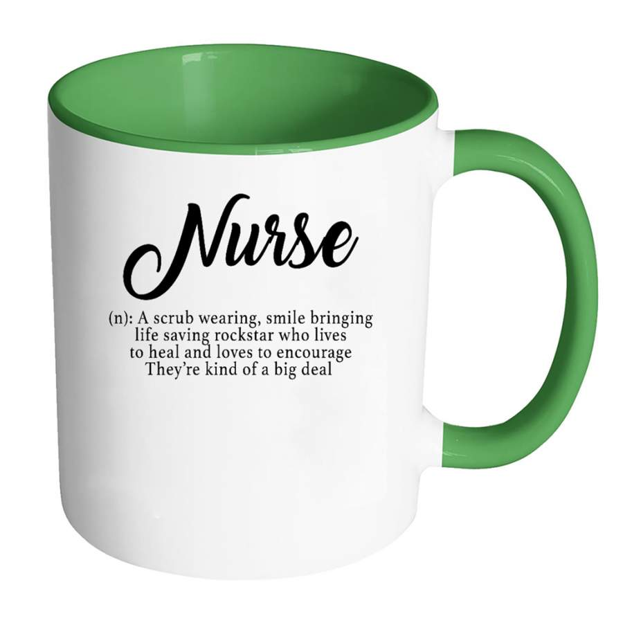 Nurse Definition RN Nurse Gift - Full-Wrap Coffee Colors Accent Mug - Buttros Store
