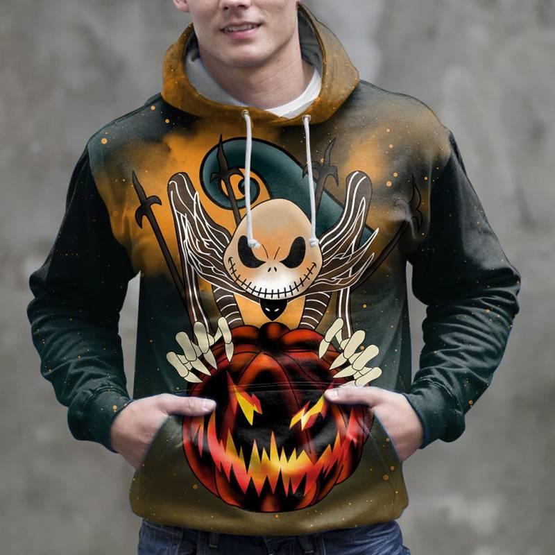 You Happy Jack Skellington Halloween 3D H16916 - All Over Print Unisex Hoodie