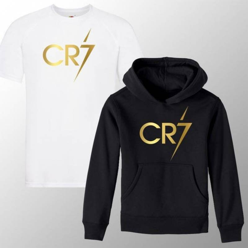 Kids Ronaldo CR7 Inspired Soccer Hoodie/ T Shirt Juve Jumper footyMerch Jumper Christiano Merch Ronaldo Tee Boys Girls Gift Top Tee 3-13yrs