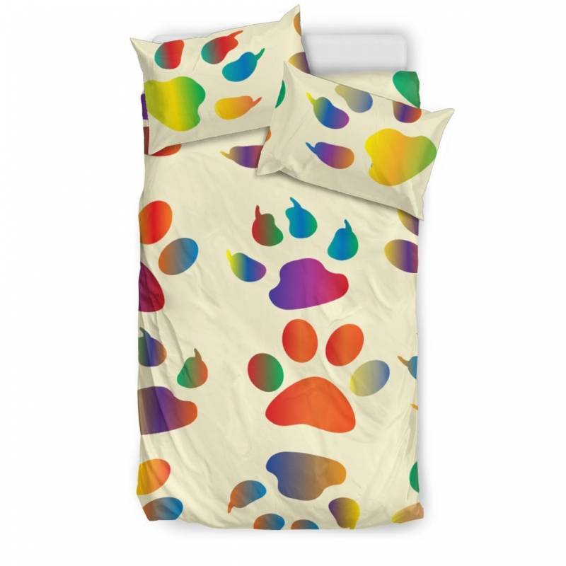 Colorful Paws Walk All Over Me Duvet and Pillow Cover Bedding Set – Muggalicious