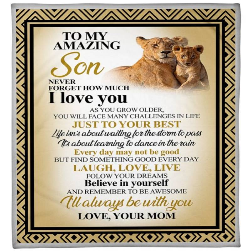 Lion to my amazing son your mom blanket – Hothot 080820