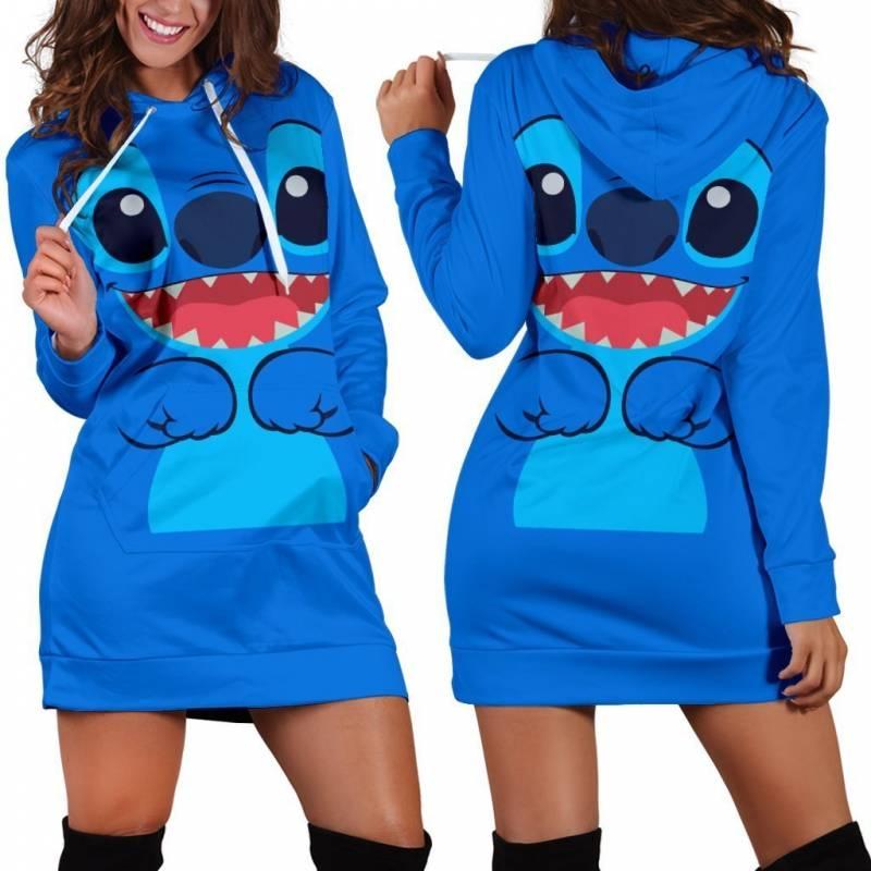 2019 Stitch Hoodie Dress Pullover Pockets Hoodie Costume Sweatshirt