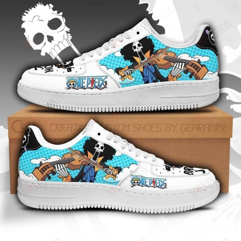 Brook Air Sneakers Custom One Piece Anime Shoes Fan PT04