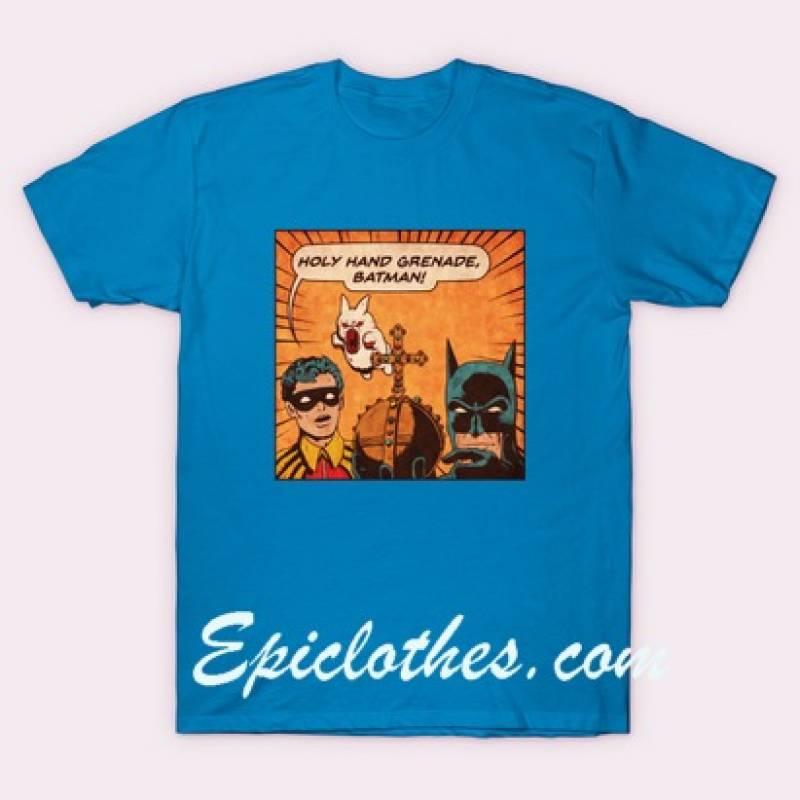 Holy Hand Grenade Batman Poster T Shirt