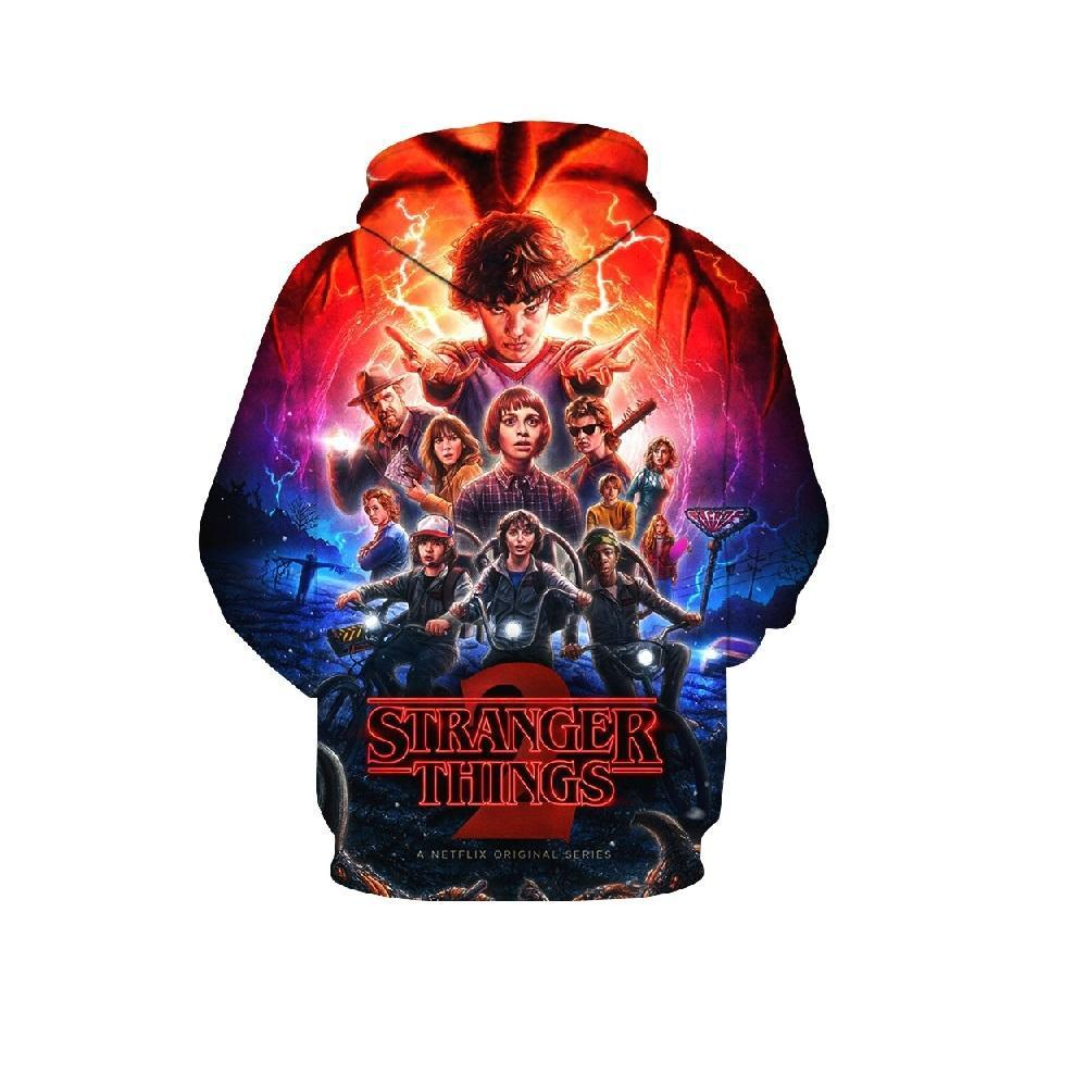 2019 Boys Stranger Things 3D Hoodie Sep Series Pullover Sweatshirt