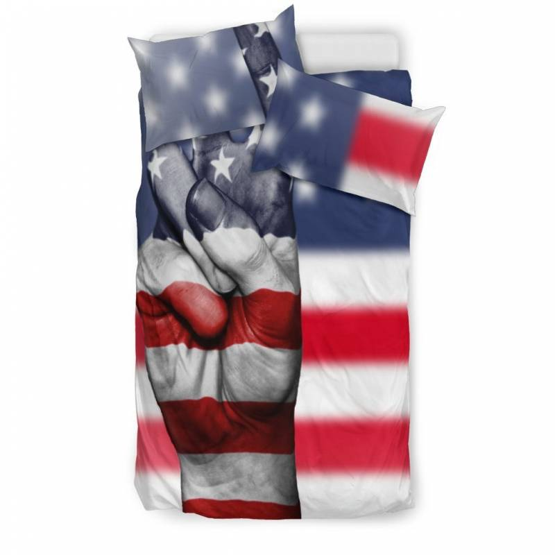 American Flag Peace Symbol Duvet & Pillow Bedding Set – Muggalicious