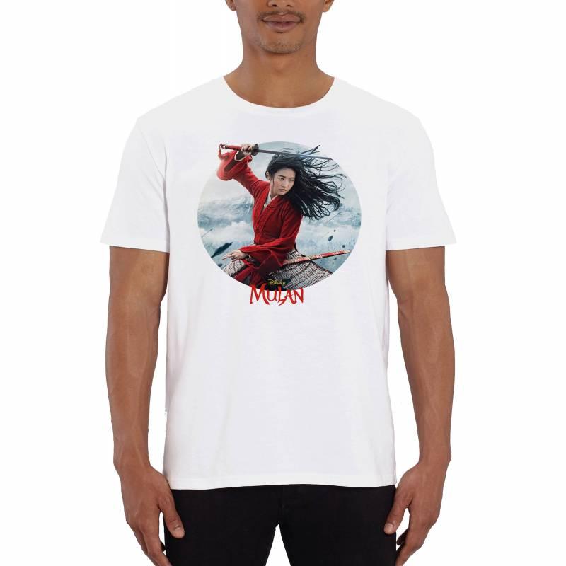 Walt Disney's Mulan Movie Poster Circular Print Men's T-Shirt