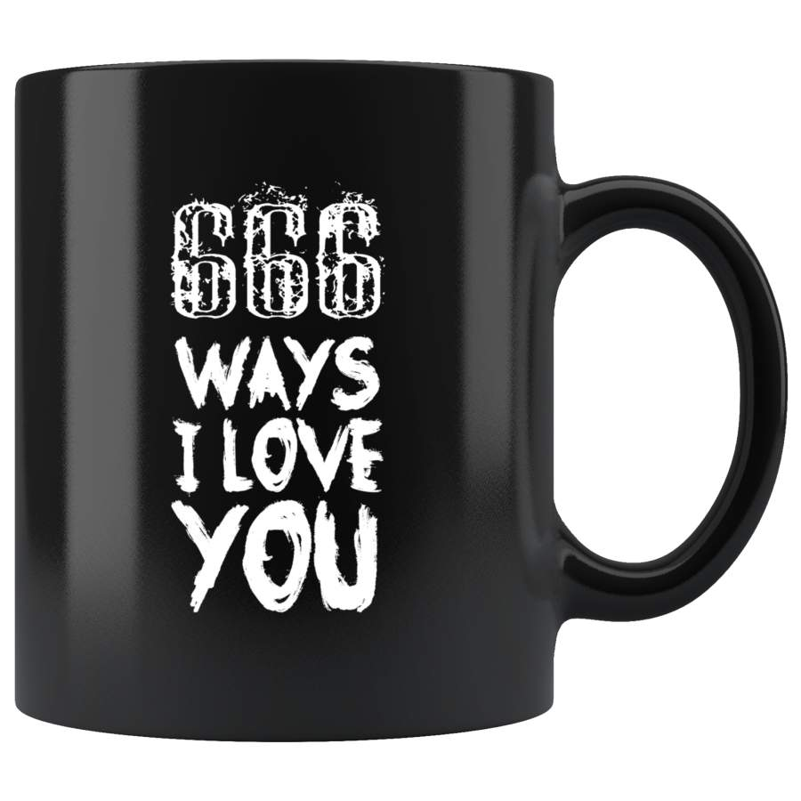 666 ways I love you Mother Lucifer Gothic Goth beer mug coffee cup