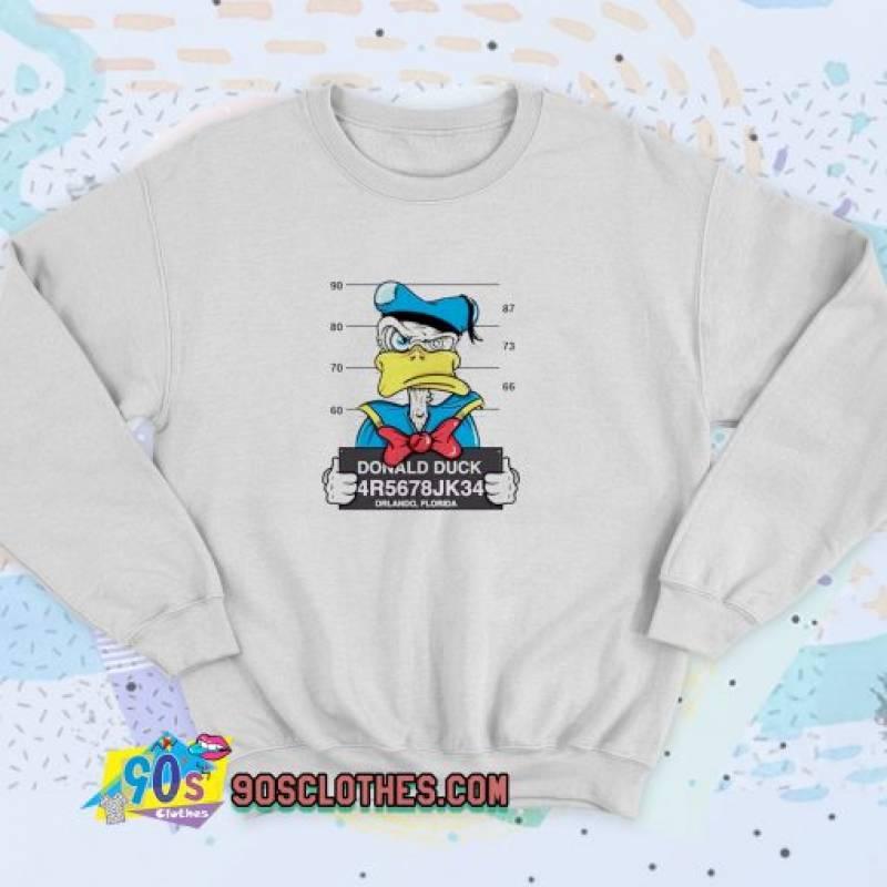 Disney Donald Duck Mugshot Unisex Sweatshirt