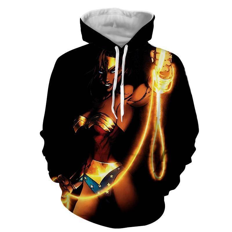 3D Printed Iron Chain Wonder Woman Hoodie