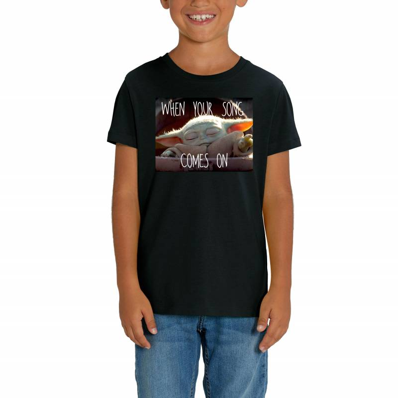 "The Mandalorian ""When Your Song Comes On"" Print Children's Unisex T-Shirt"