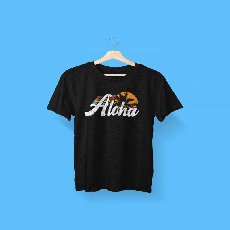Aloha Retro Graphic Tee, Hawaiian Vacation Shirt, Hawaii Shirt, Retro Shirt, 70's Shirt, Maui, Oahu, Kauai Island Shirt, Unisex Beach Shirts
