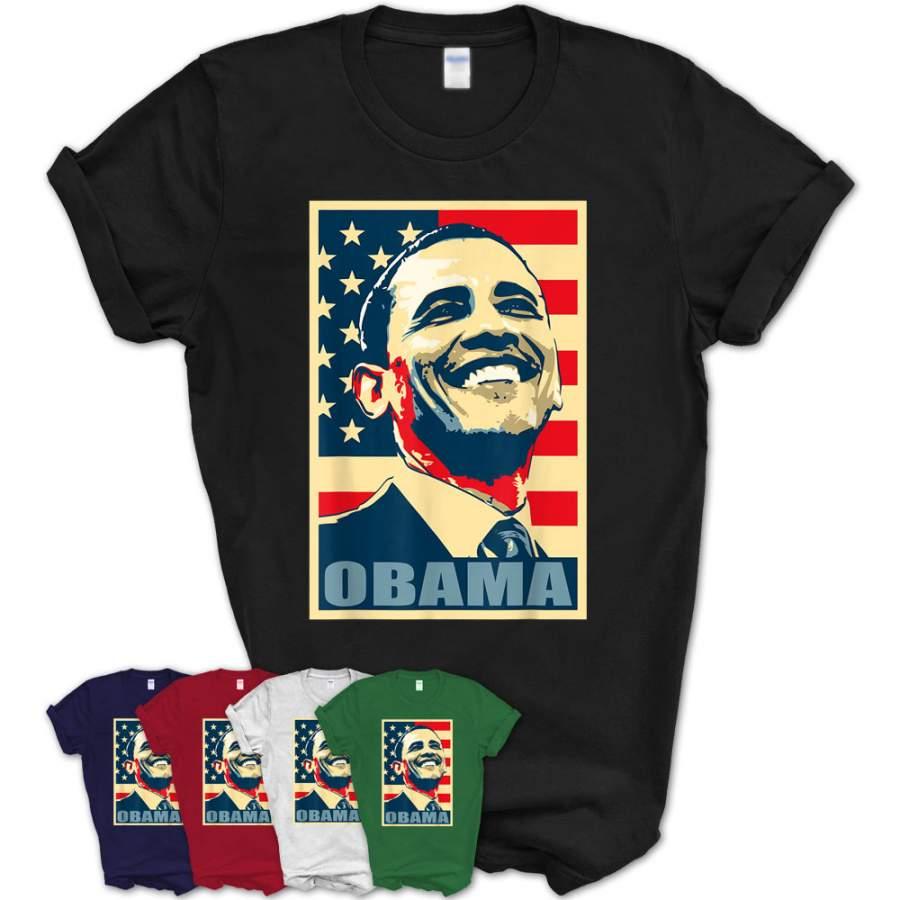 Barack Obama Propaganda Poster Pop Art T-Shirt
