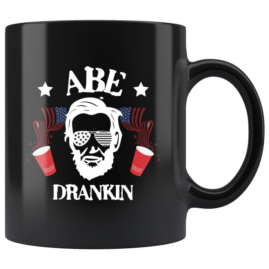 Abe Drankin Abraham Lincoln July 4th beer mug coffee cup