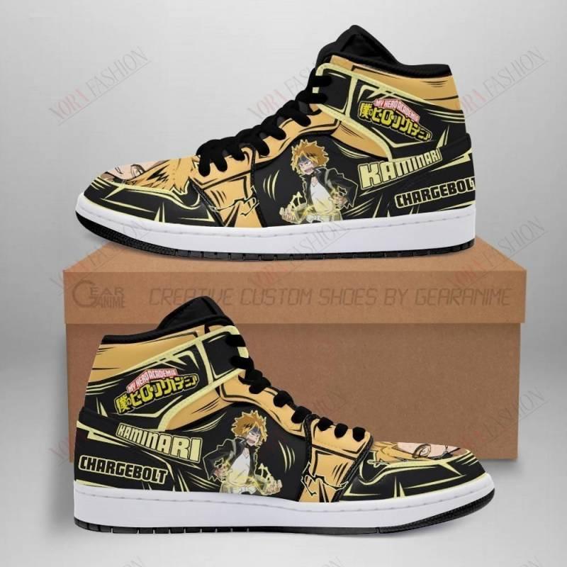 Denki Stun Shoes Boots Custom My Hero Academia Sneakers Anime MN05
